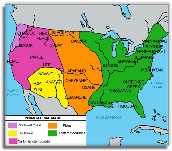 The Life Of An Eastern Woodland Native American The First People - Map of us east of mississippi river